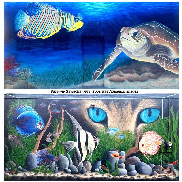 Gayle02 suzanne gayle hayward aquarium mural streets for Aquarium mural